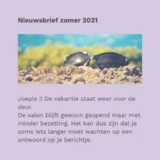 nieuwsbrief zomer 2021